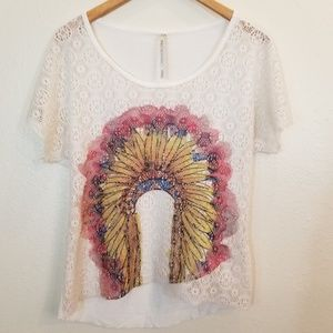 Native American Feather Headdress Top Small